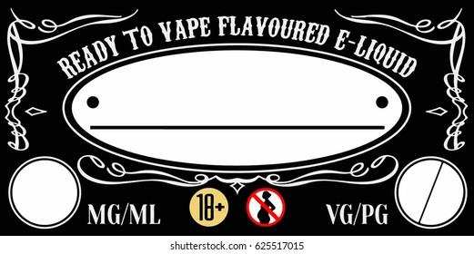 vaping e-liquid e-juice universal label template for bottles