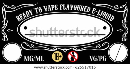 Vaping E Liquid Juice Universal Label Template For Bottles