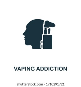 Vaping icon. Simple illustration from addiction collection. Creative Vaping icon for web design, templates, infographics