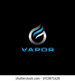Vapor Logo Design,Vape Smoke Icon Template