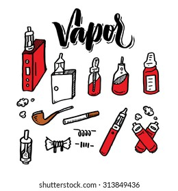 A Vaporizer device doodle and lettering