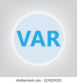 VAR (Value-added reseller) acronym- vector illustration