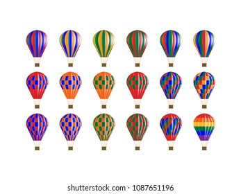 Variation of colorful balloons
