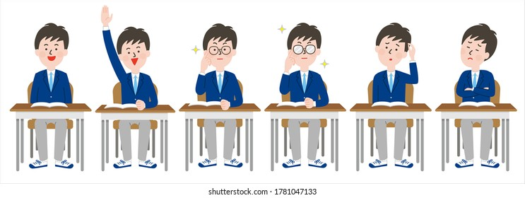 Variations of honorable male students who take seats