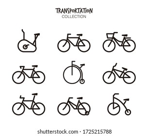 Variety of Bicycle vector set