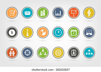 Variety of Business icons using in multi purpose in vector style (eps10)