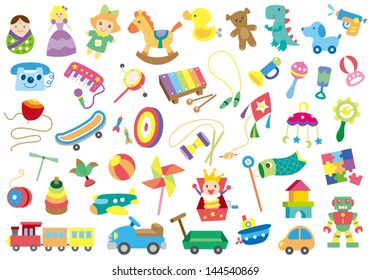 A variety of children's toys