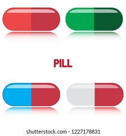 A variety of color pills