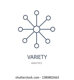 Variety icon. Variety linear symbol design from Analytics collection. Simple outline element vector illustration on white background