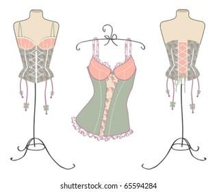 Lingerie Desenho Imagens Fotos E Vetores Stock Shutterstock