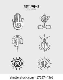Variety of Zen elemets symbols