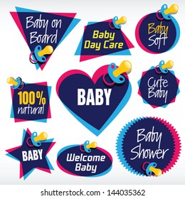 Various Baby Logo and Vector Labels