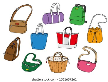 Various bags (color)