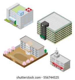 Various building, Solid figure
