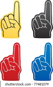 Various colored fan hands