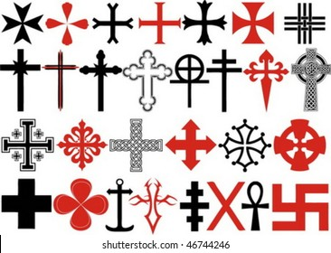 Various cross vectors collection