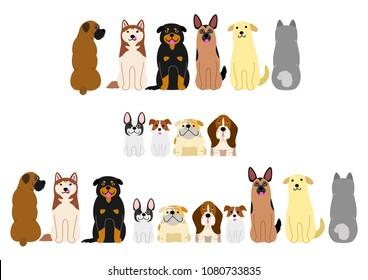 various dogs border set