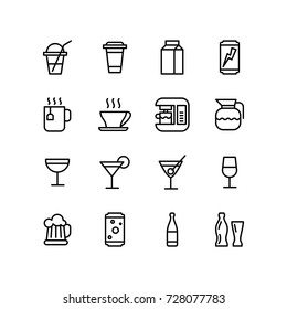 Various drink and alcohol icons put together