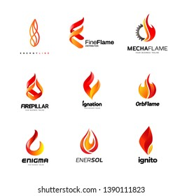 Various Fire Flame Logo Collection