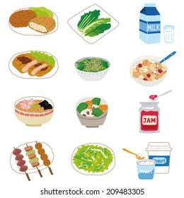 Various food menus