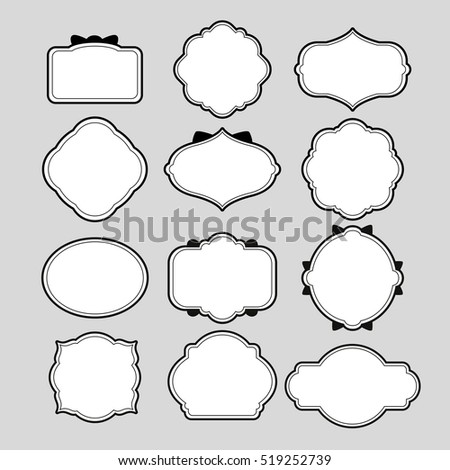 Various Frame Shapes Decoration Stock Vector (Royalty Free ...