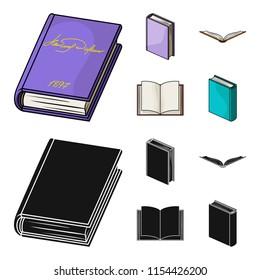 Various kinds of books. Books set collection icons in cartoon,black style vector symbol stock illustration web.