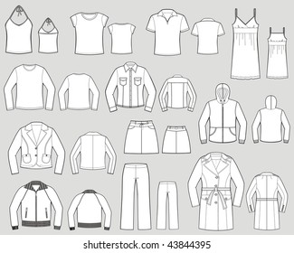 Various kinds of lady's wear