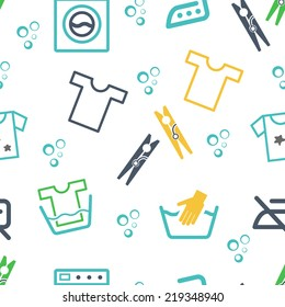 Various Laundry Washing Themed Graphics and Icons
