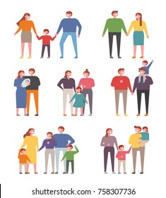 Various members of the family. vector illustration flat design