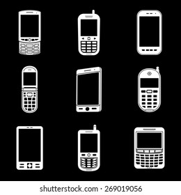 Various mobile phone icons