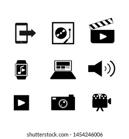 Various multimedia icon vector set design image