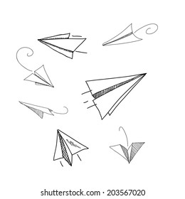 various paper plane vector illustrations