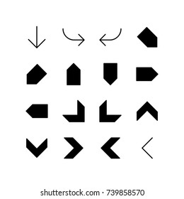 Various shape of arrows - Icon set