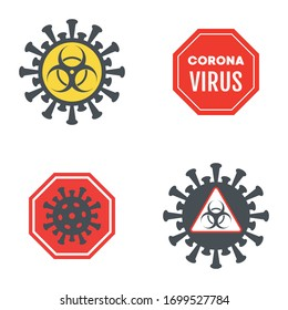 Various sign and symbol about Coronavirus or COVID-19 vector illustration