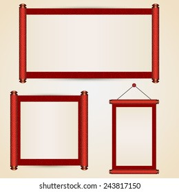 Various size of traditional chinese scroll