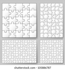 Various sizes puzzle. Illustration for design