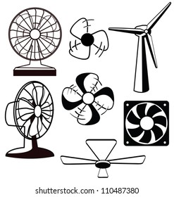 Various spinning ventilators and fans
