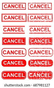 Various Style of Rubber Stamp Effect : Cancel,