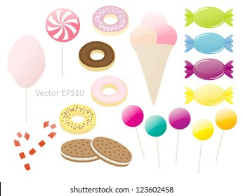 Various sweets vector collection