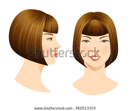 various turn head face front profile stock vector royalty free
