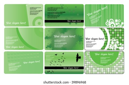 Various type of business card