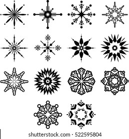 Various types of christmas decoration on white background