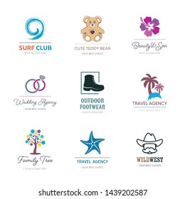 Various vector corporate business logotype design templates collection