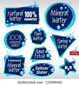 Various Vector Labels WATER 4