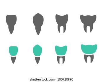 Various vector teeth icons