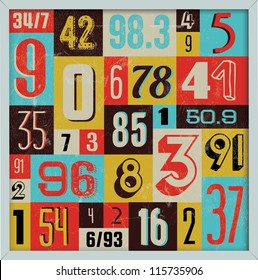 Various Vintage Number Collection. For High Quality Graphic Projects.