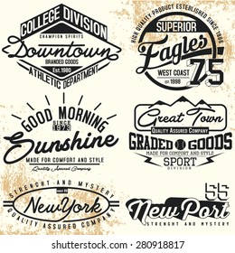 varsity graphics for t-shirt,vintage logo sets