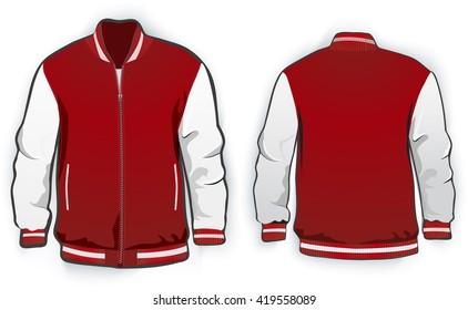 Varsity jacket template. Vector.