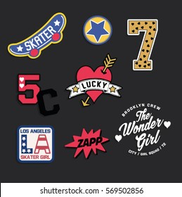 varsity old school college skate patch embroidery
