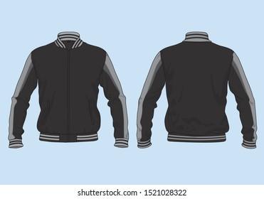 varsity retro jacket template apparel mockup vector design